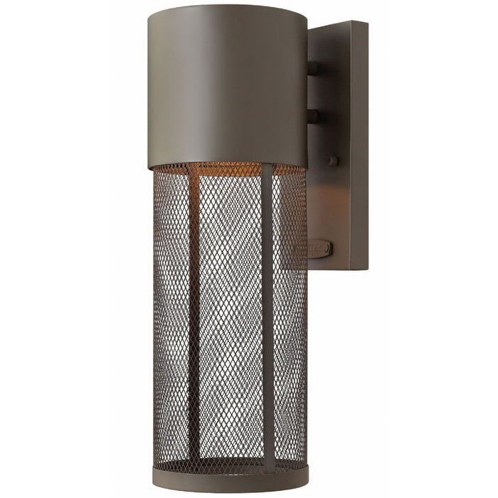 Aria Small Outdoor Wall Light - Buckeye Bronze Finish