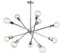 Armstrong 10-Light Chandelier - Chrome Finish