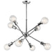 Armstrong 8-Light Chandelier - Chrome Finish