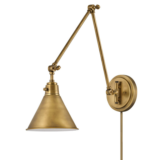 Arti Double Arm Wall Sconce - Heritage Brass Finish