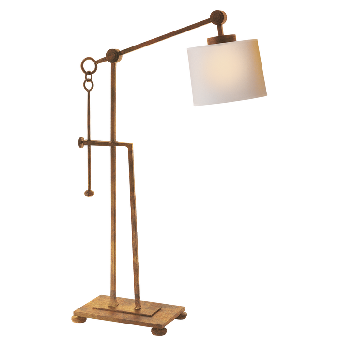Aspen Forged Iron Table Lamp - Gilded Iron