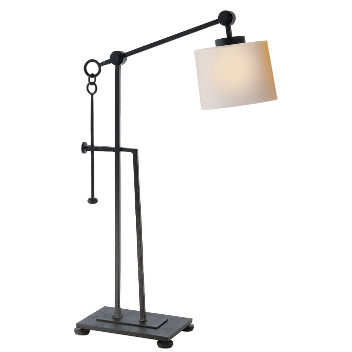 Aspen Forged Iron Table Lamp - Black Rust