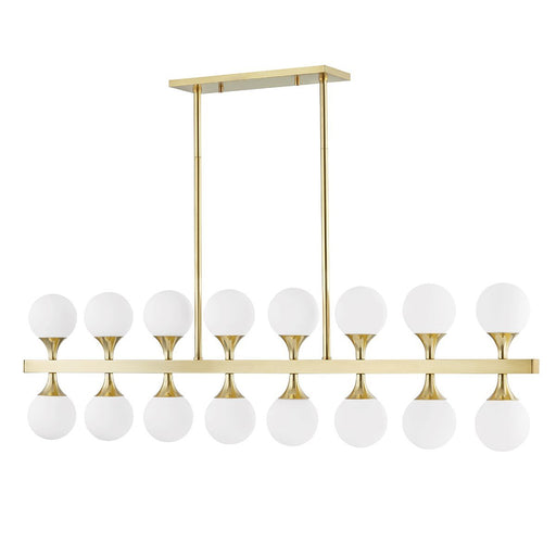 Astoria Linear Suspension - Aged Brass Finish