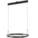 Athena Large Ring Chandelier - Satin Brushed Black Finish