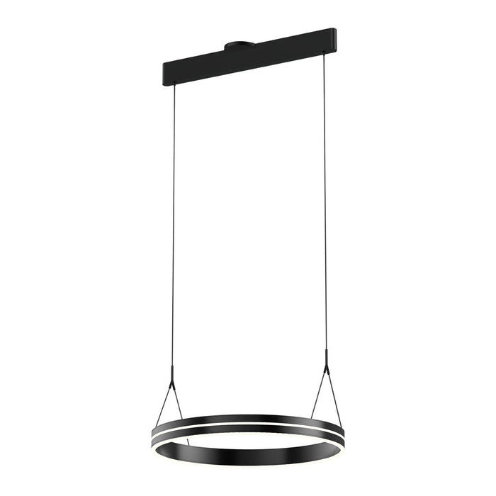 Athena Small Ring Chandelier - Satin Brushed Black Finish