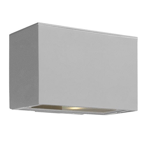 Atlantis Mini Pocket LED Outdoor Wall Light - Titanium
