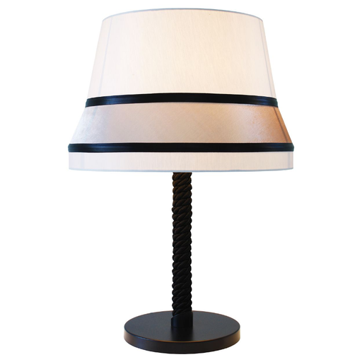 Audrey Medium Table Lamp Black Trim