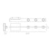"Aurora 22"" 2-Light Wall Sconce - Diagram"