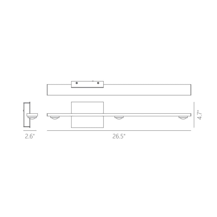 "Aurora 26"" 1-Light Wall Sconce - Diagram"