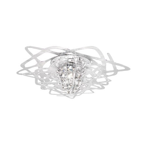 Aurora Mini Flush Mount - Transparent Finish