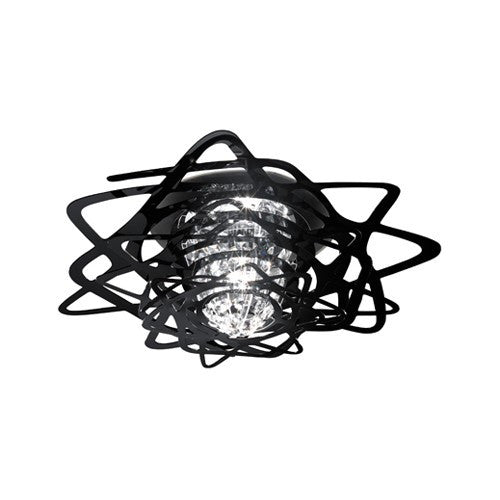Aurora Mini Flush Mount - Black Finish