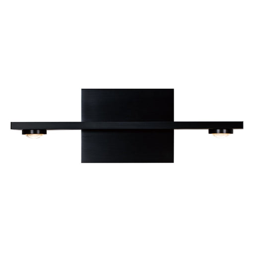 "Aurora 14.7"" 1-Light Wall Sconce - Satin Brushed Black Finish"