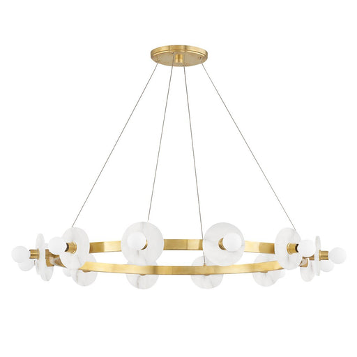 Austen Small Chandelier - Aged Brass Finish