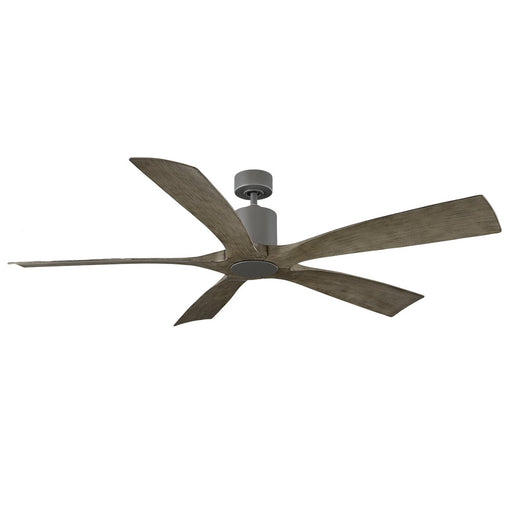 "Aviator 70"" Smart Ceiling Fan - Graphite Finish with Weathered Gray Blades"