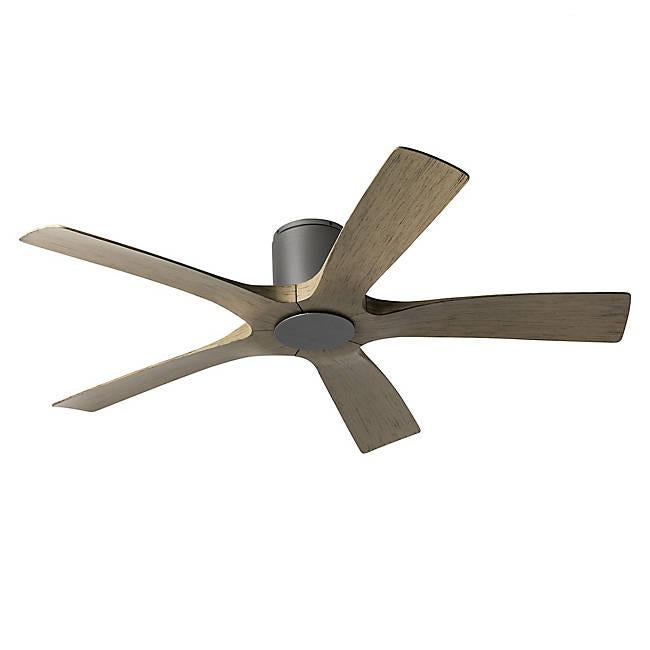 Aviator Smart Flush Mount Ceiling Fan - Graphite Finish with Weathered Gray Blades