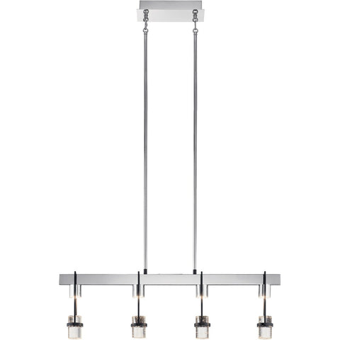 Ayse Linear Pendant - Chrome & Matte Black