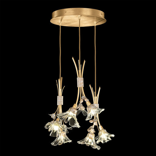 Azu Multi Light Pendant - Gold Leaf Finish