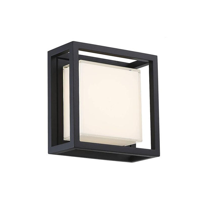 Framed Small LED Outdoor Wall Light - Black Finish