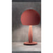 Bustier Table Lamp - Oxide Red Finish