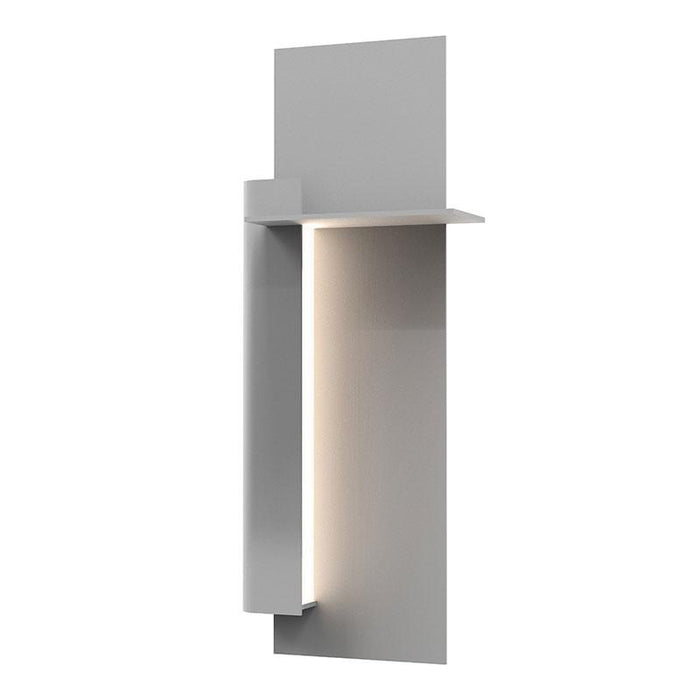 "Backgate 20"" LED Outdoor Wall Light - Textured Gray Finish / Left Side"