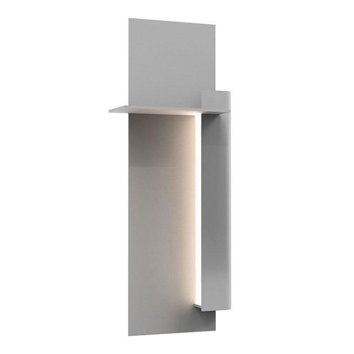 "Backgate 20"" LED Outdoor Wall Light - Textured Gray Finish / Right Side"