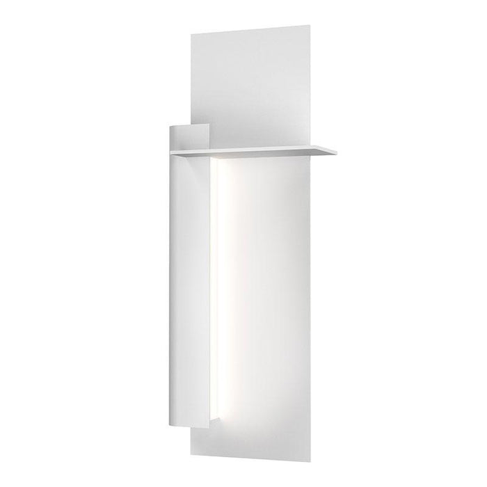 "Backgate 20"" LED Outdoor Wall Light - Textured White Finish / Left Side"