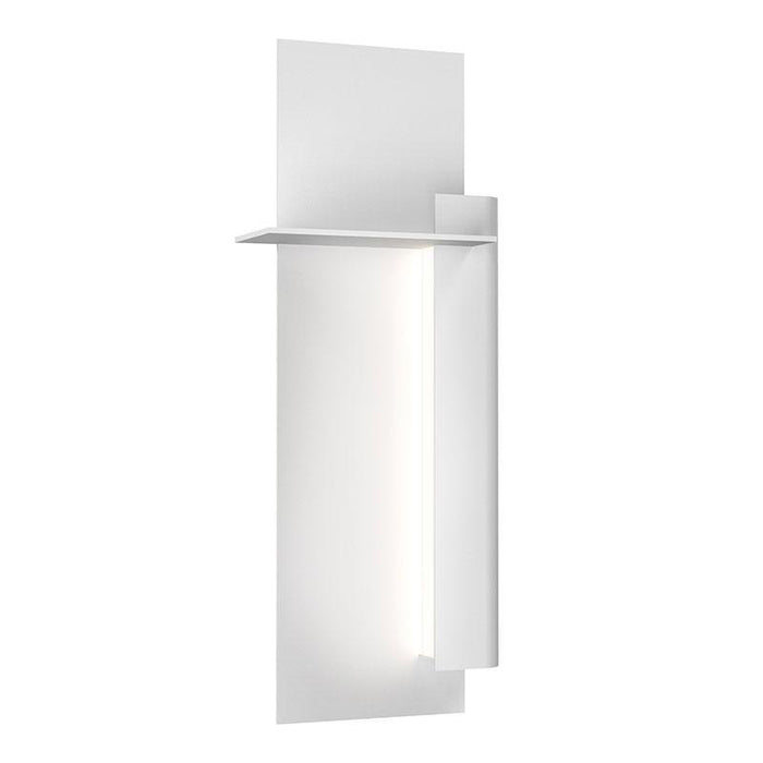 "Backgate 20"" LED Outdoor Wall Light - Textured White Finish / Right Side"