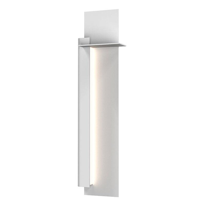 "Backgate 30"" LED Outdoor Wall Light - Textured White Finish / Left Side"