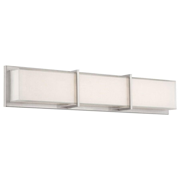 Bahn Small LED Bath Bar - Brushed Nickel Finish