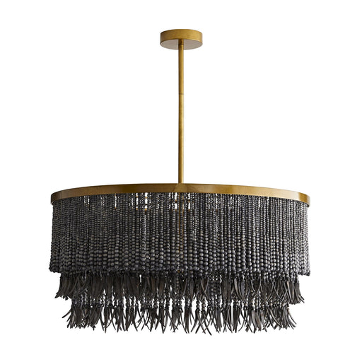 Baja Chandelier - Antique Brass/Dark Gray Finish