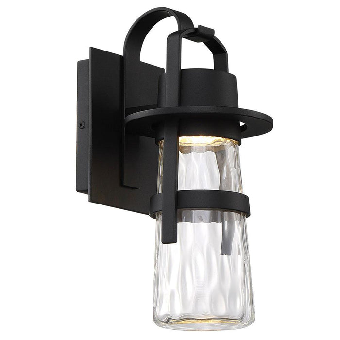 Balthus Small LED Outdoor Wall Light - Black Finish