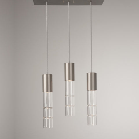 Bamboo Linear Suspension Light - Flat Bronze