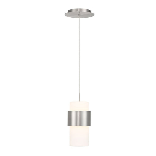 Banded LED Mini Pendant - Brushed Nickel Finish