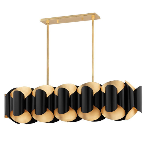Bank Linear Suspension - Gold Leaf/Black Finish