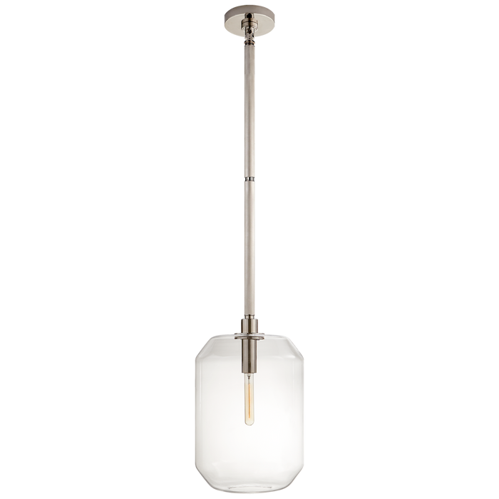 Barrett Medium Knurled Pendant - Polished Nickel Finish