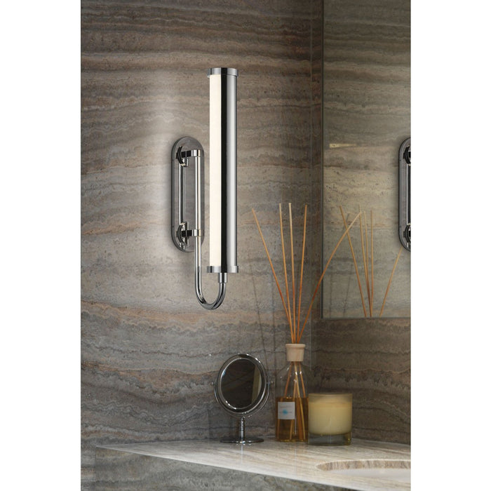 Bauhaus Revisited Rohr Short LED Wall Sconce - Display