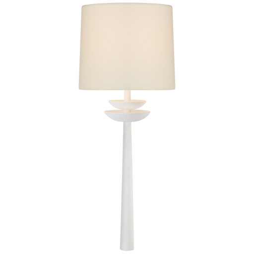 Beaumont Medium Tail Sconce - Matte White Finish