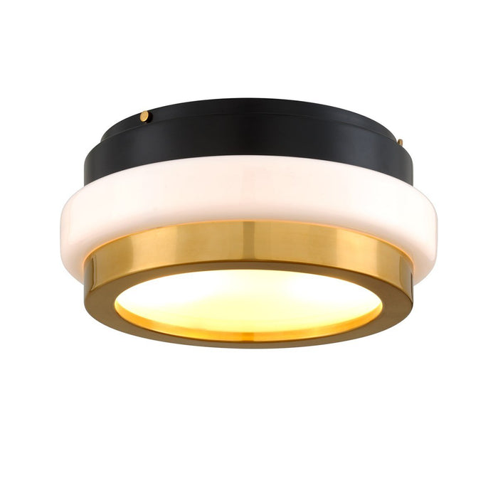 Beckenham Flush Mount - Vintage Polished Brass/Black
