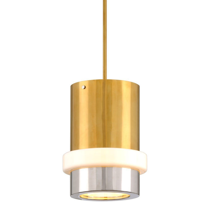Beckenham Large Pendant - Vintage Polished Brass/Nickel