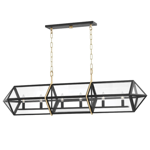 Bedford Hills Linear Suspension - Aged Brass/Black Finish