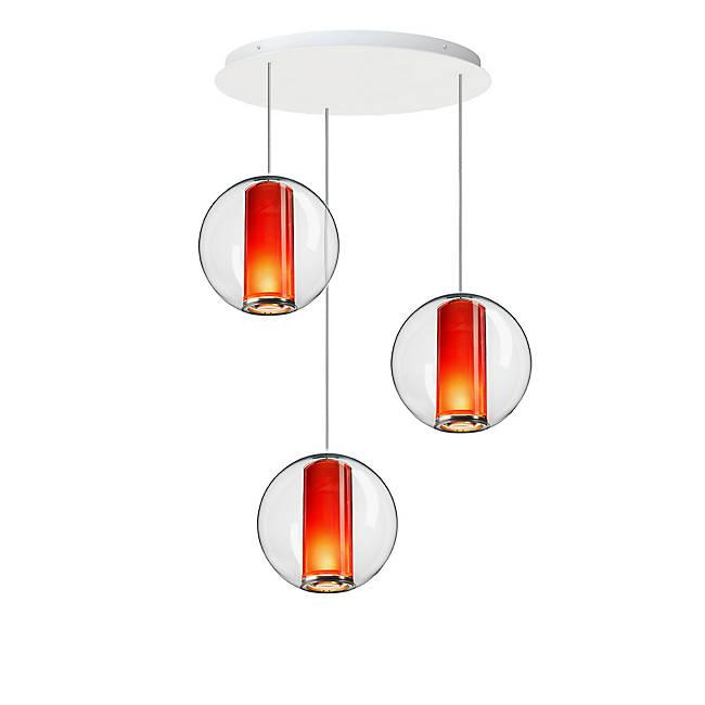 Bel Occhio 3-Light Chandelier - Orange