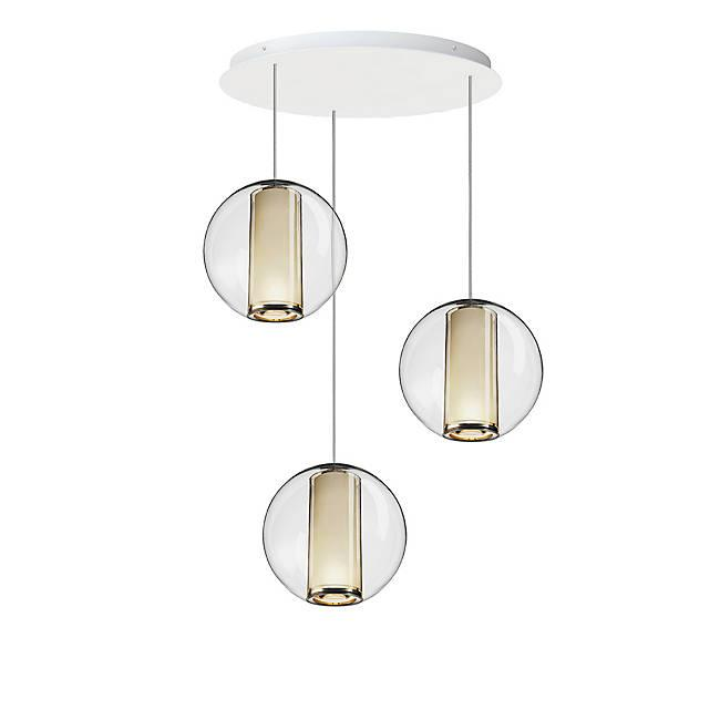Bel Occhio 3-Light Chandelier - White