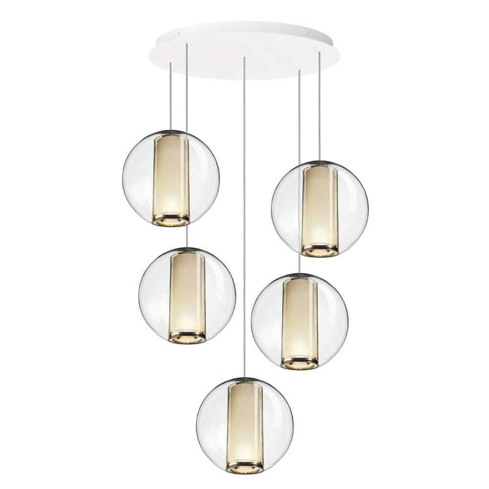 Bel Occhio 5-Light Chandelier - White