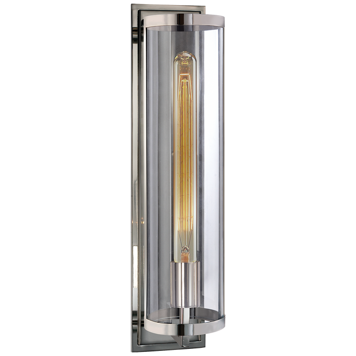 Belden Round Sconce - Polished Nickel Finish