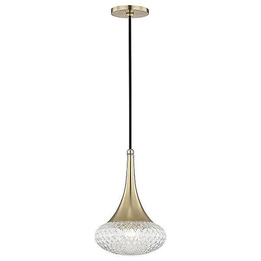Bella Small Wide Pendant Light Aged Brass
