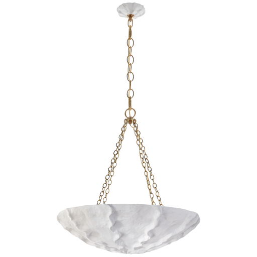 Benit Medium Sculpted Chandelier - Plaster White Finish