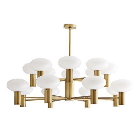 Bentley Chandelier - Antique Brass Finish