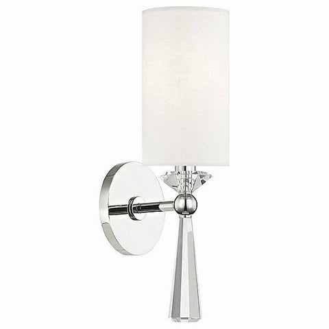 Birch Wall Sconce Polished Nickel
