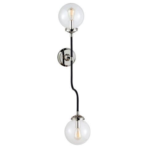 Bistro Double Wall Sconce Polished Nickel
