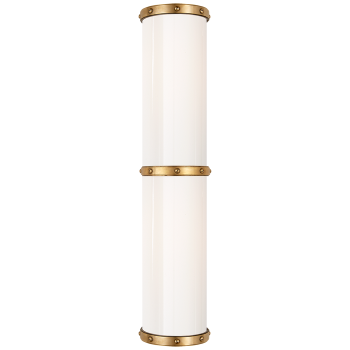 Bleeker Medium Bath Sconce - Natural Brass Finish
